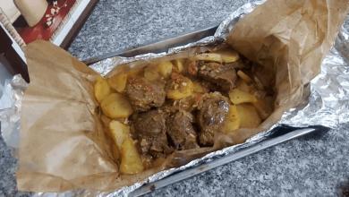 صورة مطبخ ام وليد لحم بالبطاطا في الفرن بطريقة مبسطة